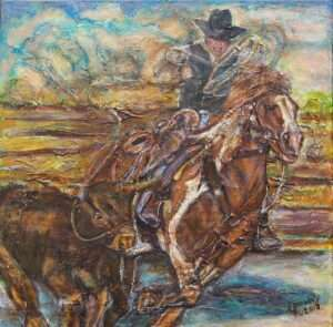 21-Cowboy-Roping-Calf-Original