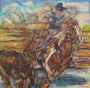 9-Cowboy-Roping-Calf-Original